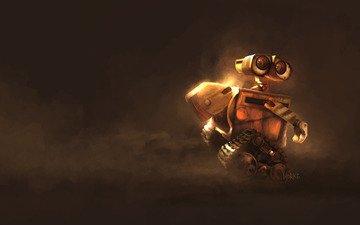 робот, мультфильм, валли