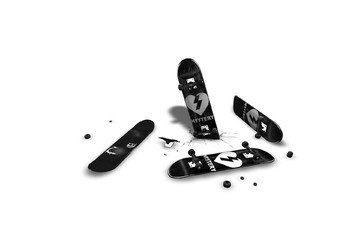 скейт, колеса, сломан
