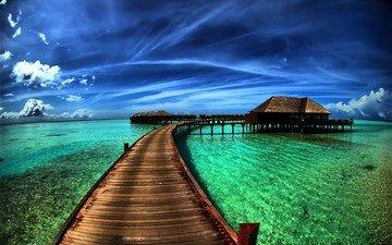природа, море, пляж, путешествия, hdr, гавайи