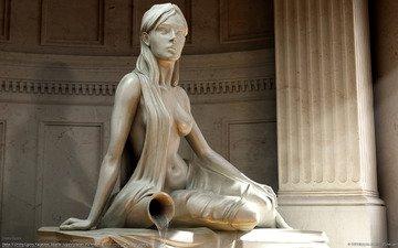 девушка, статуя, водолей, dmitriy egorov