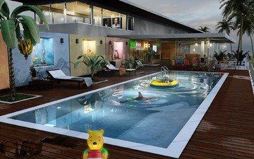 игрушки, villa maya 8, басейн