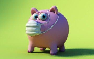 зелёный, свиной грипп, повязка