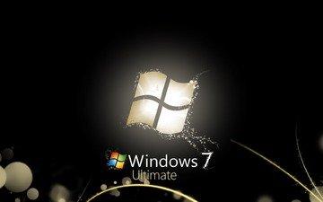 windows seven 7, computers wallpapers, блака, 3д, в стиле