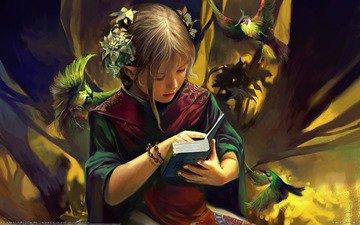 фентези, девочка, нежность, эльф, детство, доверие, chen wei - knowledge and wisdom