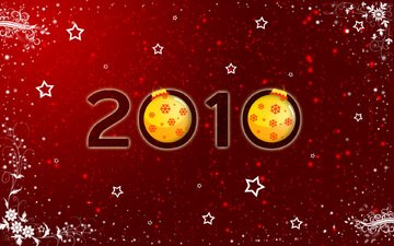 new year, stars, red, ball, toys