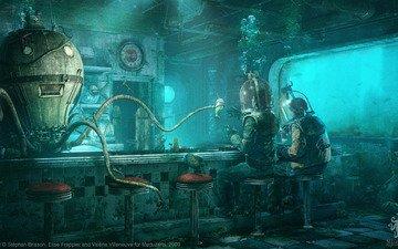 осьминог, под водой, octopus diner, st__phan brisson, elise frappier, valerie villeneuve, водолазы