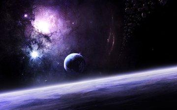 звезды, планета, warping, звезд