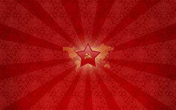 серп, молот, ссср, звезда, красный
