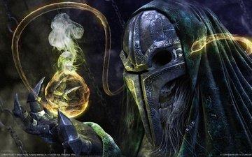 маска, сфера, когти, магия, balazs papay - undead wizard
