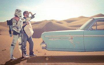 пустыня, звездные войны, мужик, клон
