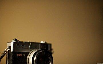 минимализм, фотоаппарат, hi-tech, аппарат, канон