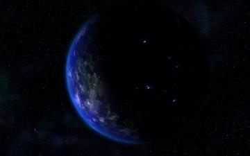 космос, планета, черное