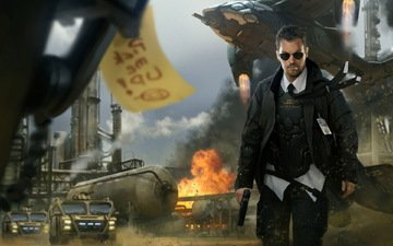 пистолет, взрыв, спецагент, техника