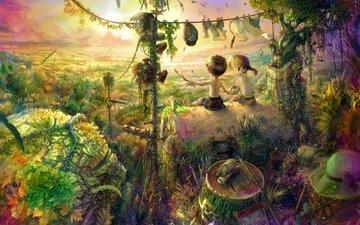 фантазия, мечты, дети, детство