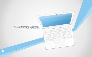 полосы, обои, линии, надпись, картинка, бренд, macbook, фирма, эппл