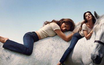 лошадь, девушка, женщины, модель
