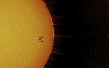 солнце, мкс, космическая станция, атлантис