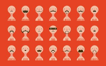 mustache, minimalism, face