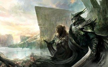 девушка, воин, воительница, меч, kekai kotaki, доспехи