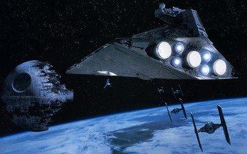 звездные войны, звезда смерти, космический корабль, звёздный разрушитель