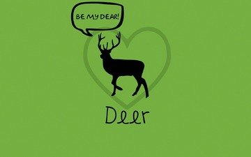 green, deer, love, word game