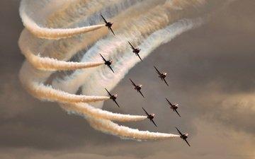 самолеты, скорость, мощь, красиво, шоу, мгновение полёта