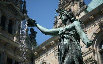 вода, фонтан, статуя, германия