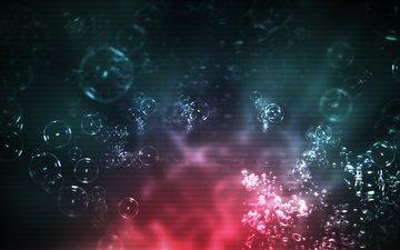 свет, пузыри, под водой