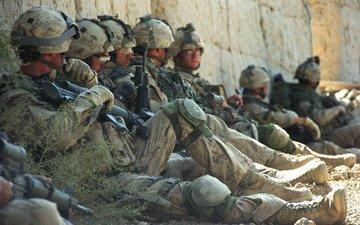 солдаты, солдат, отдых