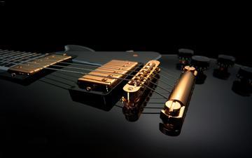 струны, инструмент, электрогитара
