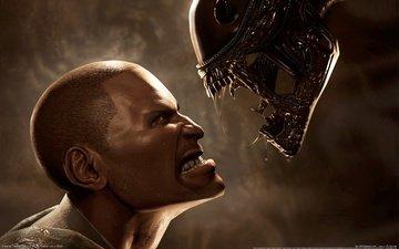 aliens vs predator, инопланетянин, пехотинец, чужой против хищника