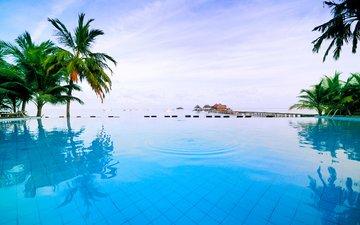 море, бассейн, тайланд, релакс, басеин