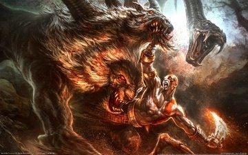 god of war 3, кратос, animal gods