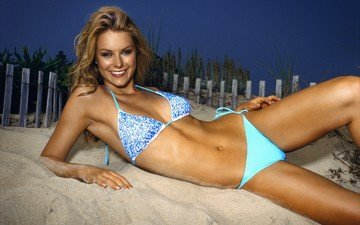 sand, beach, the fence, swimsuit