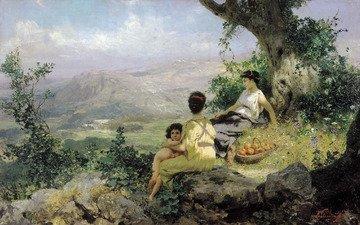 картина, отдых, семирадский