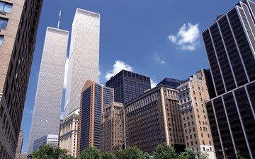город, небоскребы, нью-йорк, здания, высотки, new-york