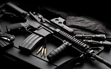 оружие, автомат, патроны