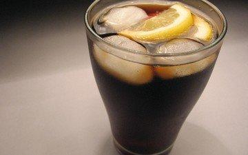 лёд, лимон, стакан, холодный, cтекло