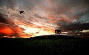 небо, фото, пейзажи, авиация, самолеты, транспорт, техника, аэропорты