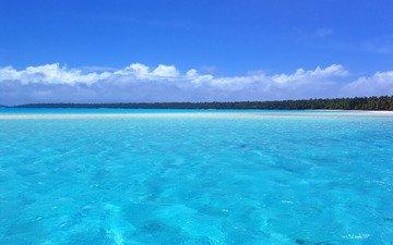 пляж, на, на природе, расслабся, вид с высоты