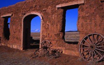 колеса, панорама, стена