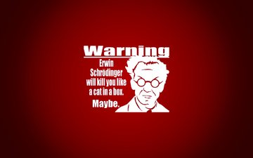 предупреждение, schrodinger erwin, краcный