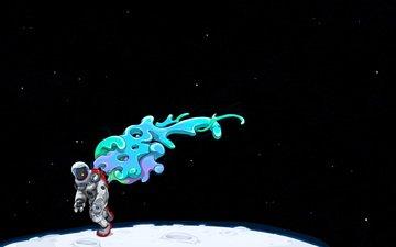 луна, скафандр, космонавт