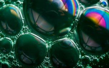 радуга, пузыри, мыльные пузыри, мыло, soap bubble rainbows, грин
