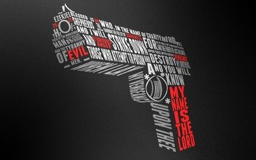 gun, words, desert eagle