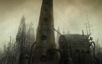 башня, башни, машинариум