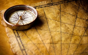 map, desk, compass, marine style