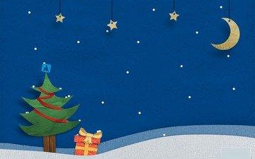 новый год, елка, звездочки, владстудио