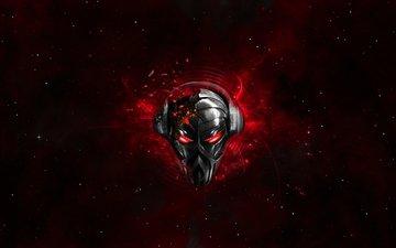 космос, маска, робот, пиратская станция