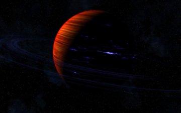 stars, planet, ring, saturn